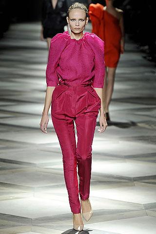 Lanvin Fuchsia Pants and Poufed Blouse on Exshoesme.com
