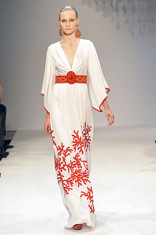 Andrew Gn SS09 Coral Print Gown on Exshoesme.com