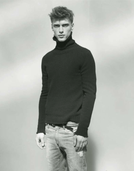 Balmain Mens FW 09 turtleneck and jeans