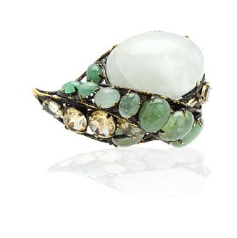Moini's Aquamarine & Citrine Ring
