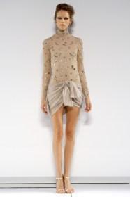 Chanel's see-through dhoti dress