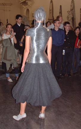 The Overlook – Silver coil corset for the Tundra collction, Autumn/Winter 1999/2000 by Leane for McQueen