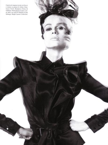Kristen McMenamy has many faces - Vogue Italia July 09 by Steven Meisel