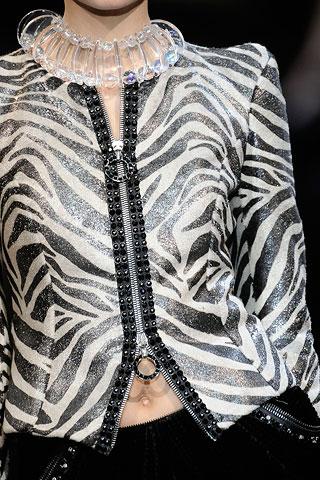 Zipped Zebra @ Armani Prive FW09