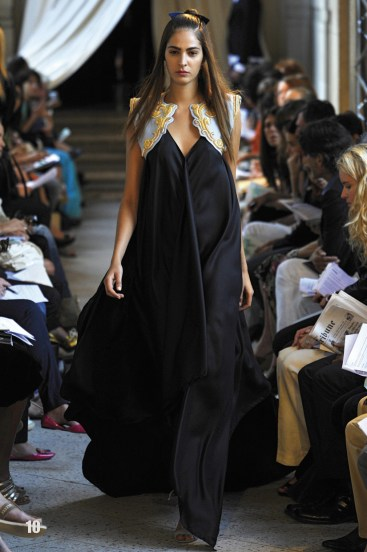 long gown with crested vest ss09