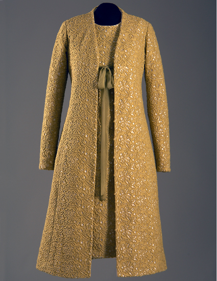Lemongrass dress and coat, as worn by Michelle Obama for her husband's inauguration. Photo by Irving Solero