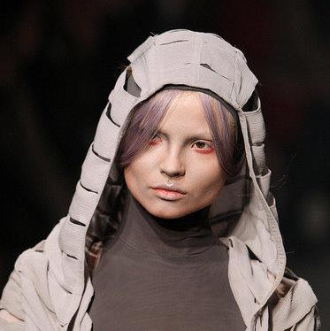 Catching the red eye for Paris Fashion Week - Gareth Pugh SS10