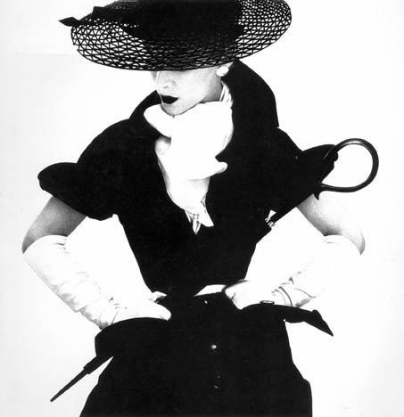 Woman with Umbrella, Irving Penn