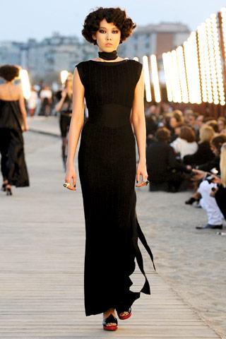 Chanel Resort 2010 long black dress on Exshoesme.com