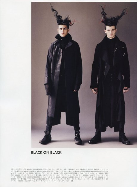 Neo punk in Vogue Hommes Japan, Fall 2009 on Exshoesme.com