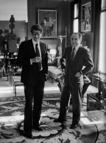 Yves Saint Laurent and Pierre Bergé in one of their homes on Exshoesme.com