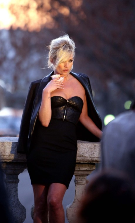 Kate Moss at the YSL photoshoot in Paris by Craig McDean, 2009.