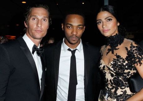 Matthew McConaughey and Camilla Alves at the VF Oscar Party 2011 on exshoesme.com