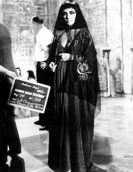 Elizabeth Taylor as Cleopatra on exshoesme.com