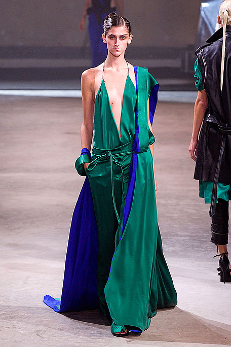 Haider Ackermann Teal and Blue Gown SS11 on exshoesme.com