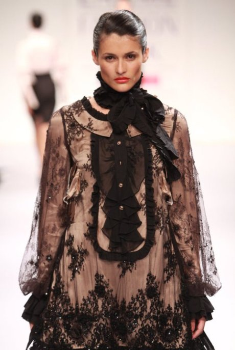 Motonari Ono dress at Lakme Fashion Week Tokyoeye Summer Resort 2011 on exshoesme.com