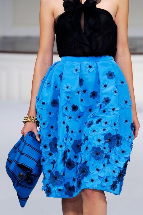 ODLR Blue on Blue SS11 Skirt on exshoesme.com