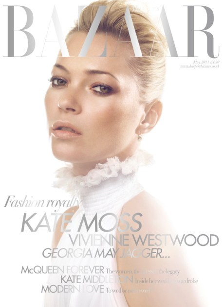 Kate Moss Cover 2 Harper's Bazaar May 2011 on exshoesme.com