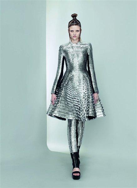 Gareth Pugh Silver Leggings and Dress SS11 on exshoesme.com