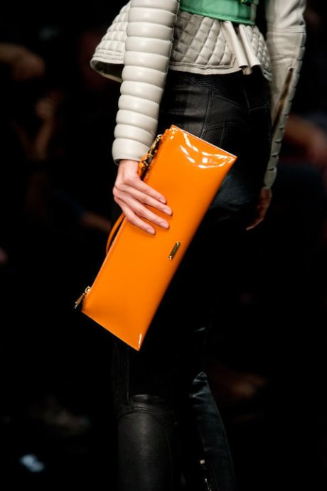 Burberry Brights Tangerine Clutch SS11 on exshoesme.com