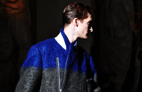 Dries Van Noten Menswear FW11 Blue and Grey Coat on exshoesme.com