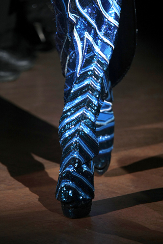 Givenchy Spring 2010 Haute Couture Blue Boots on exshoesme.com