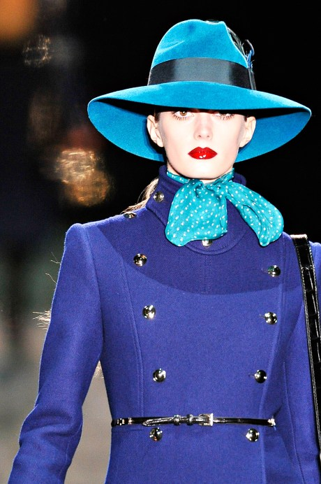 Gucci FW11 Blue Coat, Hat and Scarf on exshoesme.com