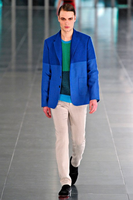 Jonathan Saunders FW11 Mens Two-Tone Blue Blazer on exshoesme.com