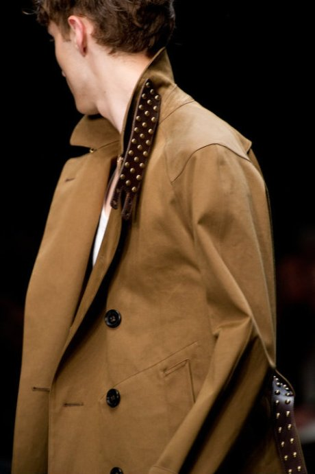Burberry SS11 Men's Coat with Studs on exshoesme.com