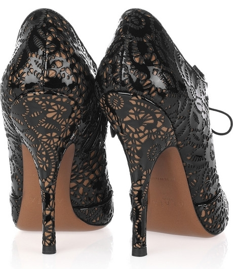 Alaia Laser Cut Lace Up Pumps 3 on exshoesme.com