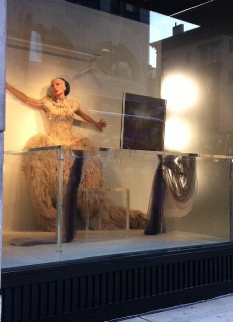 Daphne Guinness in the Barneys New York Window before The Met Ball 2011. Photo by Amanda Brooks on exshoeseme.com.