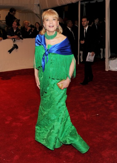 Barbara Walters at the Met Ball 2011 on exshoesme.com