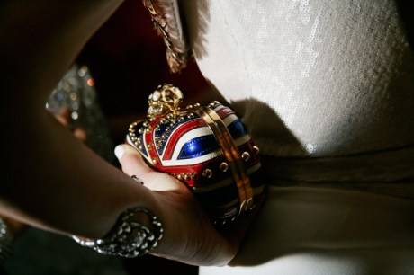 Lee Hilfiger with McQueen clutch at the Met Ball 2011 on exshoesme.com