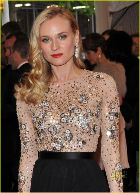 Diane Kruger in Jason Wu at the Met Ball 2011 on exshoesme.com