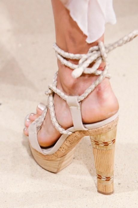 Donna Karan SS11 Rope and Cork Sandals on exshoesme.com