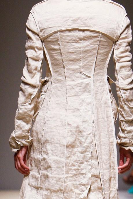Donna Karan SS11 Long linen jacket on exshoesme.com