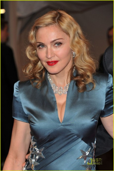"Madonna at ""Alexander McQueen: Savage Beauty"" Costume Institute Gala At The Metropolitan Museum Of Art on exshoesme.com"