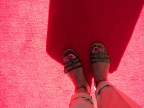 Me in Alaia Flats on exshoesme.com. Photo by Jyotika Malhotra.