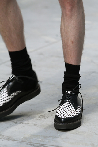 Costume National Menswear Checkered Shoes for SS12 on exshoesme.com