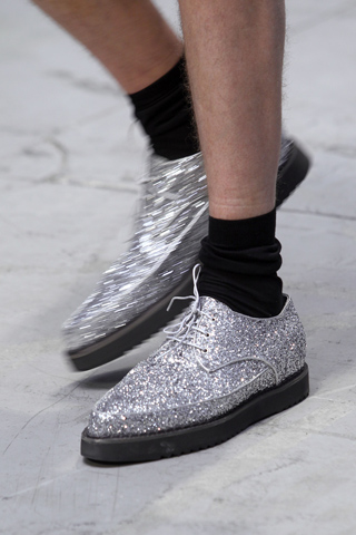 Costume National Menswear Glitter Shoes for SS12 on exshoesme.com
