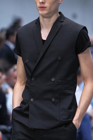 Costume National Menswear Sleeveless Jacket for  SS12 on exshoesme.com
