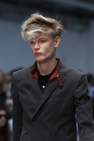 Costume National Menswear Tousled Hair for SS12 on exshoesme.com