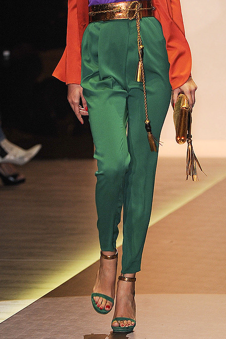 Gucci SS11 Green Pants and Tassle Belt on exshoesme.com