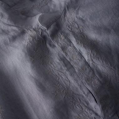 Paul Weller for Pretty Green Men's Grey Indian Shirt Detail on exshoesme.com
