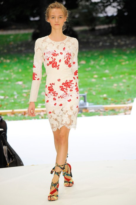 Erdem SS11 Red and White Lace Dress on exshoesme.com