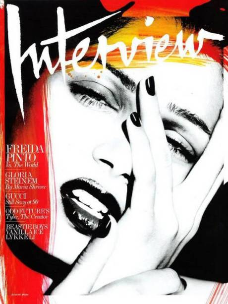 Freida Pinto by Mert and Marcus on Interview Magazine August 2011 Cover on exshoesme.com