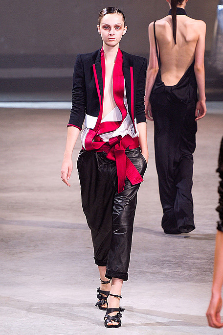 Haider Ackermann SS11 Red Black and White Suit on exshoesme.com