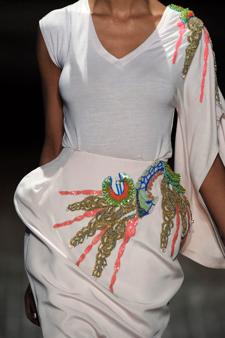 Manish Arora SS11 White Embroidered Tee and Skirt on exshoesme.com