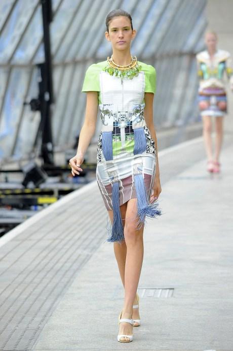 Mary Katrantzou SS11 Fringed Hem Dress on exshoesme.com