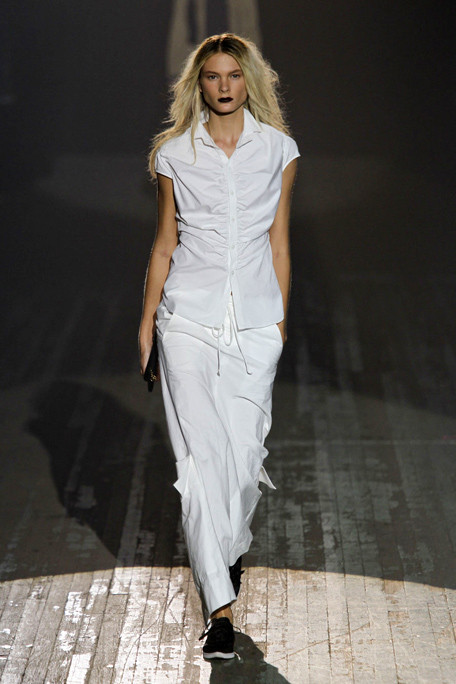 Y-3 SS11 White Sleeveless Shirt and Long Skirt on exshoesme.com